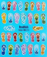 Слайдер-дизайн 3d-272 «Шлепки»  Dream Nails (водные наклейки)