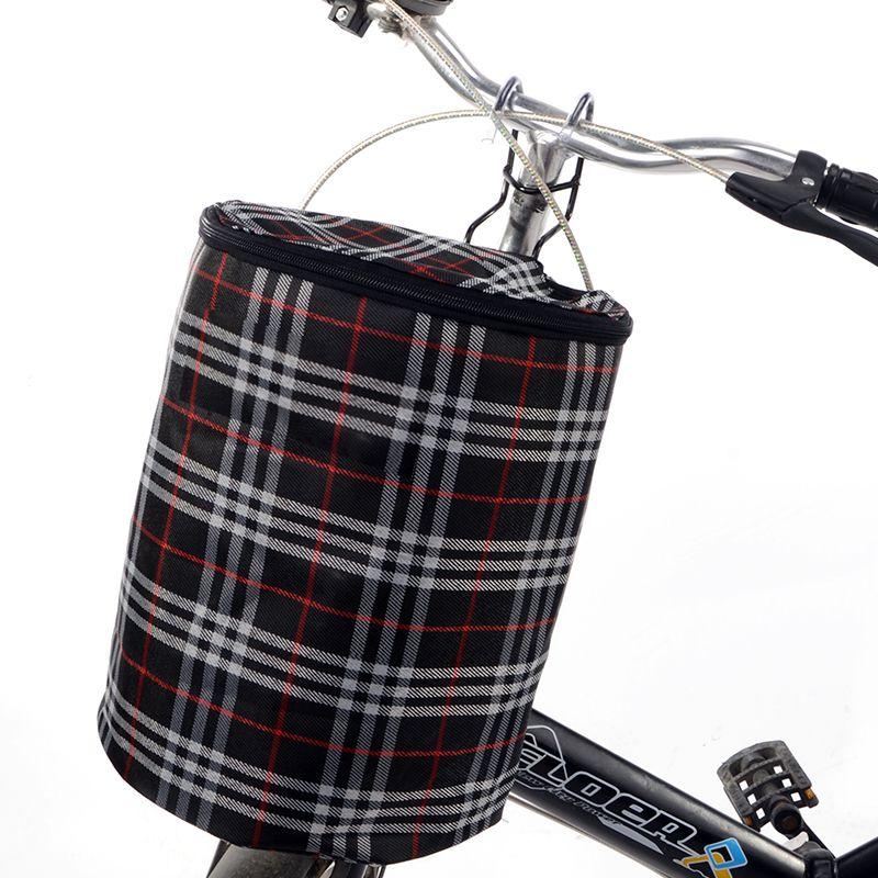 Складная Подвесная Тканевая Корзина На Руль Велосипеда, 28х23 См, Цвет Черный