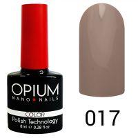Гель-лак цветной Opium №017, 8 мл