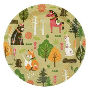 Тарелки Лесные жители