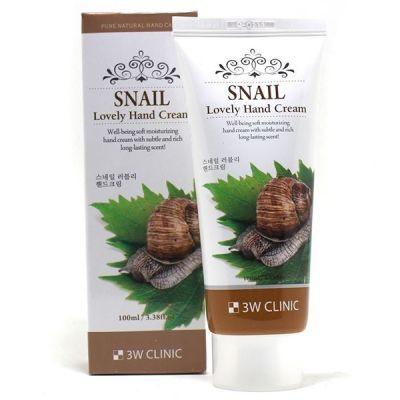Крем для рук Snail (Улитка) 3W CLINIC, 100мл