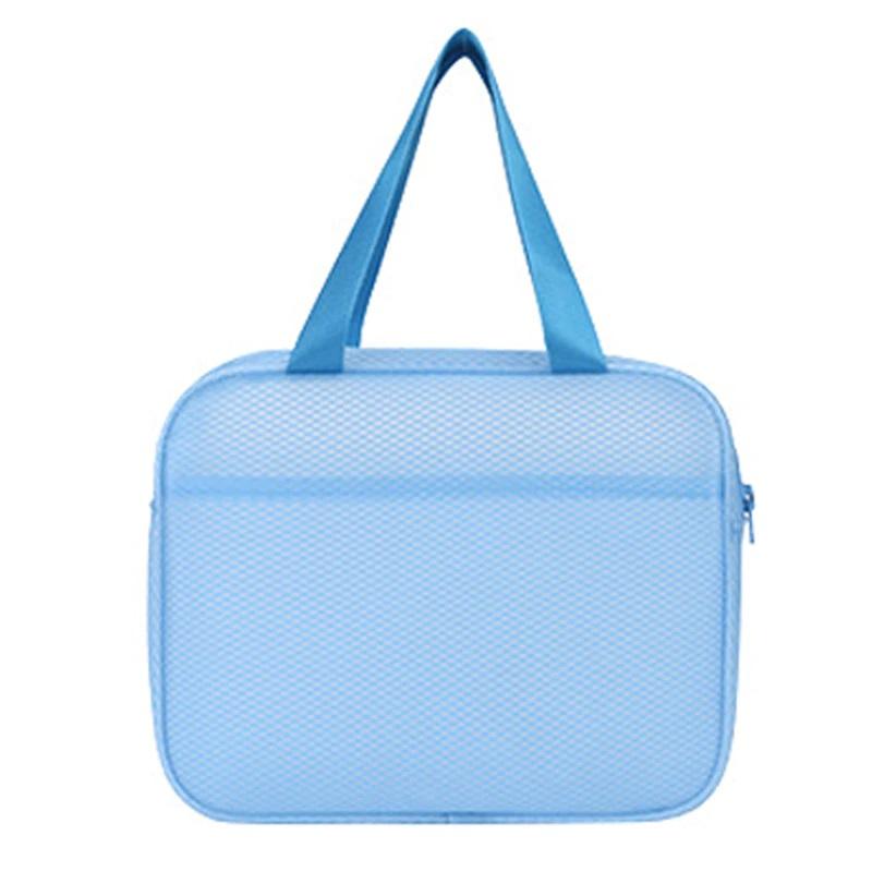 Водонепроницаемая пляжная сумка с двумя карманами Beach Bag, цвет голубой