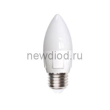 Лампа светодиодная LED-C37 СВЕЧА 7W/WW/E14/FR 3000K яркая Uniel