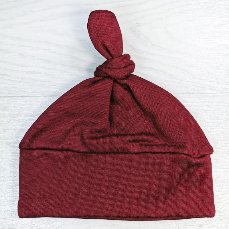 вн1121-06 Шапочка трикотажная одинарная с ободком Узелок бордо
