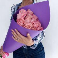 Букет из розовых роз 60 см (ЭКВАДОР)