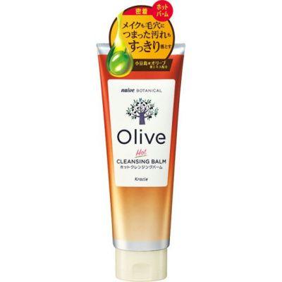 Kracie Naive Botanical Olive Бальзам разогревающий для удаления макияжа и глубокого очищения пор с экстрактом листьев оливы 170 гр
