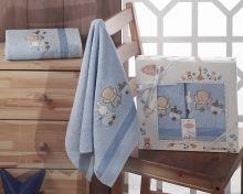 Комплект махровых полотенец для детей BAMBINO-TRAIN 50*70 + 70*120 Арт.2134-1