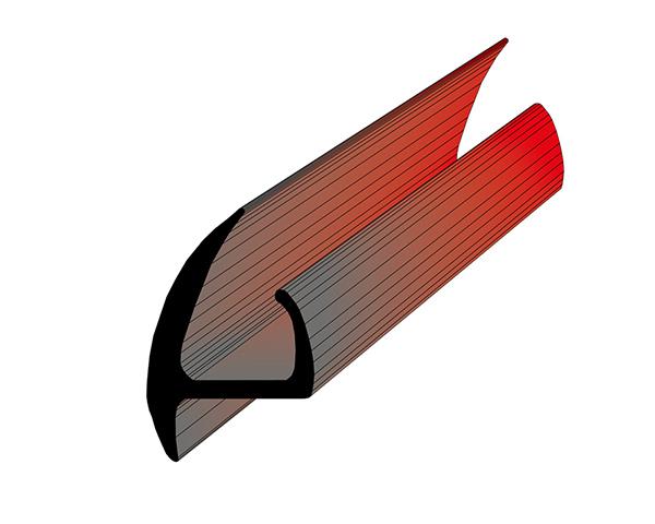 Профиль уплотнительный (цвет серый) ширина 23 мм