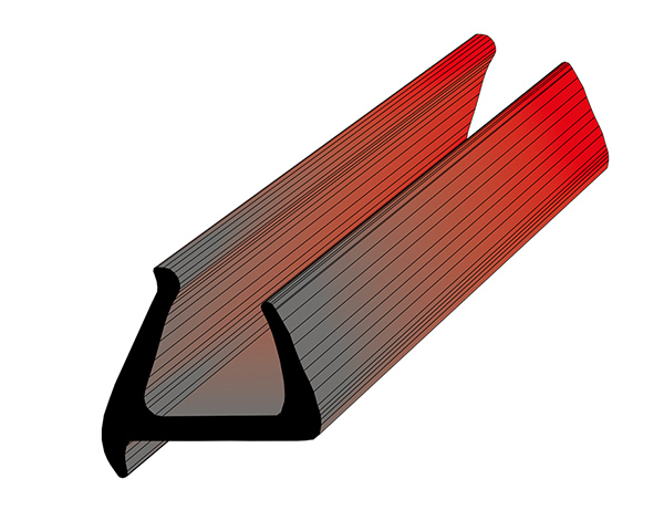 Профиль уплотнительный (цвет серый) ширина 34 мм