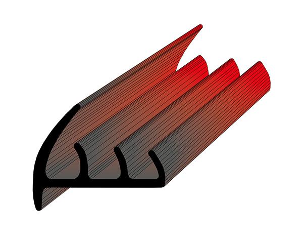 Профиль уплотнительный L=2.6 м/п ширина 57 мм