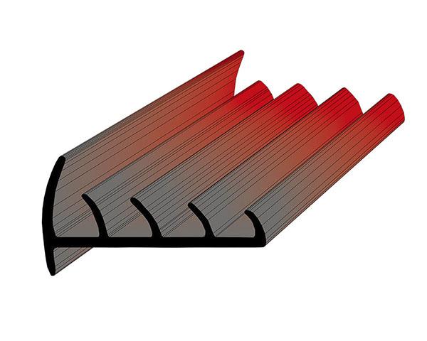 Профиль уплотнительный L=2.6 м/п ширина 80 мм
