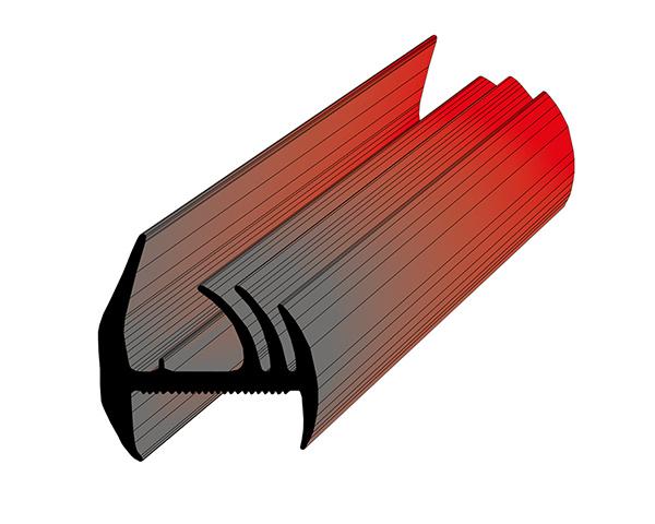 Профиль уплотнительный L=20 м/п (580611210) ширина 34 мм