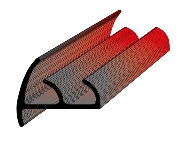 Профиль уплотнительный для рефрижератора ширина 23 мм