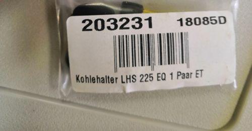 Щетки угольные LHS 225 EQ Planex