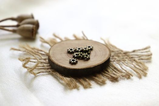 Металлические бусины, Рондель классический, бронза 4 мм, 30 шт/упак