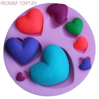 Молд силиконовый для торта Сердечки