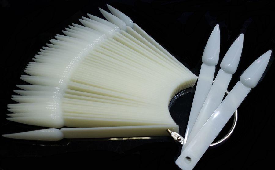 Дисплей веер 40 штук бел. ОСТРЫЕ