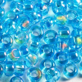Бисер чешский 61030 голубой прозрачный радужный Preciosa 1 сорт