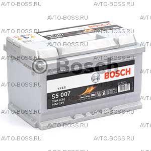 Автомобильный аккумулятор 0092S50070 Bosch S5007 (S5 007) 74 a/h обр 574402075 LB3 74 Ач