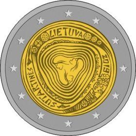 Литовские народные песни - Сутартины 2 евро  Литва 2019