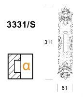 Ручка Salice Paolo Bruges 3331-s для раздвижных дверей. схема