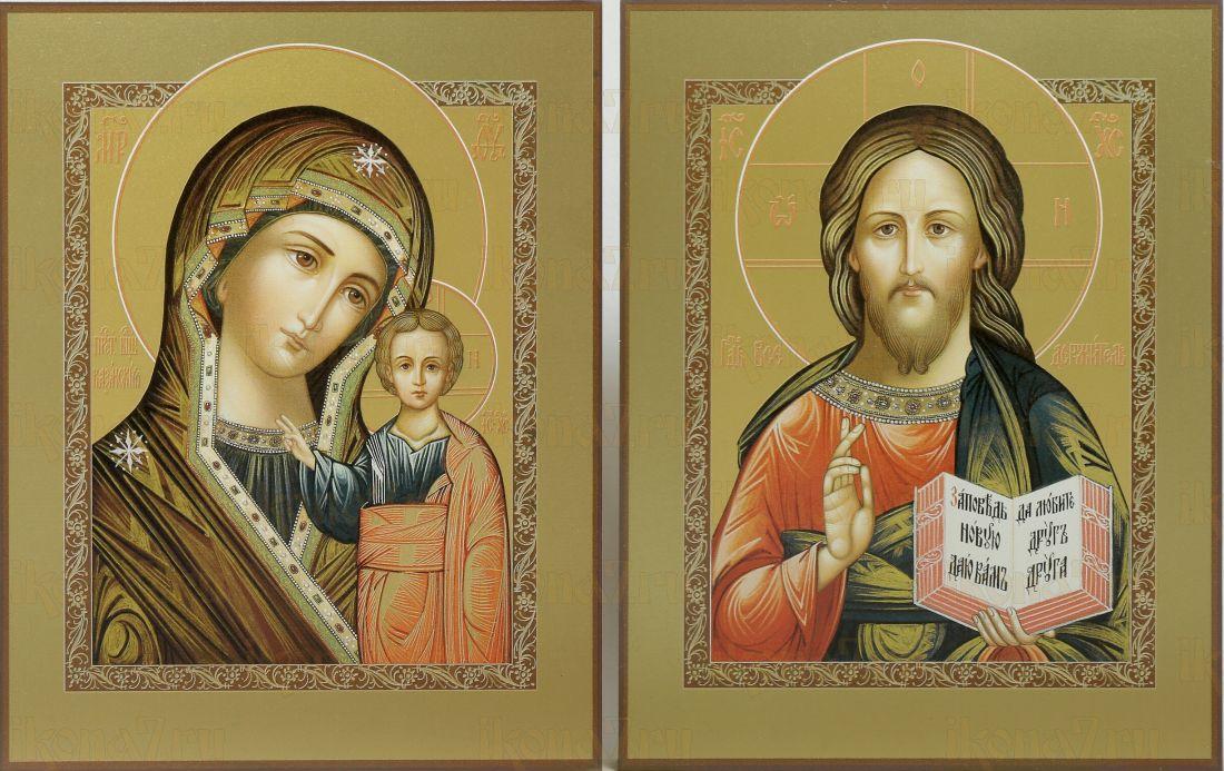 Венчальная пара 41: Казанская икона Божией Матери и Господь Вседержитель