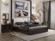Кровать с подъемным механизмом и мягким изголовьем Стефани