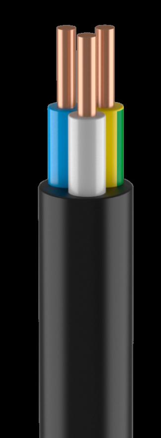 Кабель ВВГнг-LS 5х6  50м (ГОСТ)  (Кабэкс) сил. черн. медн. пл. нег. пониж газ дв. из.