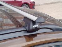 Багажник на крышу BMW X1, Атлант, аэродинамические дуги