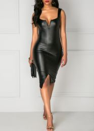 платье иск. кожа разм. M, L, XL. модель 496
