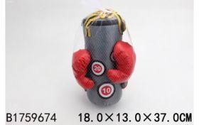 """Серия """"Спорт и отдых"""". Набор для бокса. Спортсмен (груша 37 см. перчатки. в сетке) (арт. 1759674)"""