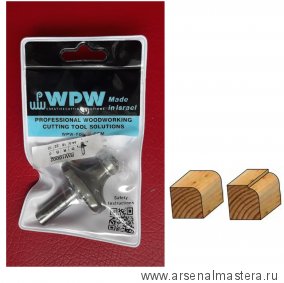 SALE Фреза радиусная с подшипником полуштап WPW 44.5x22x76x12 R16.0 RW16002