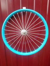 Колесо для детского велосипеда 18 дюймов переднее синее
