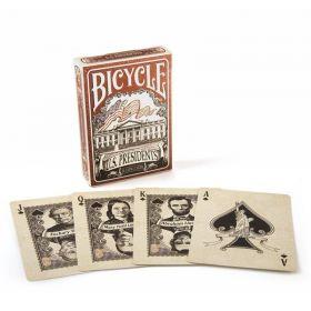 Дизайнерские карты Bicycle US Presidents (президенты США) красная