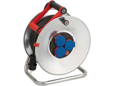 Удлинитель на катушке Brennenstuhl Garant S 50 метров; 3 розетки; кабель AT-N05V3V3-F 3G1,5 черный; IP44 (1198590)