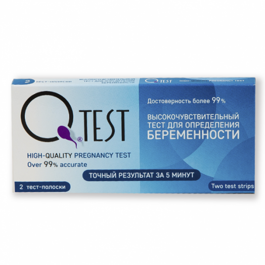 Тест для определения беременности Qtest №2