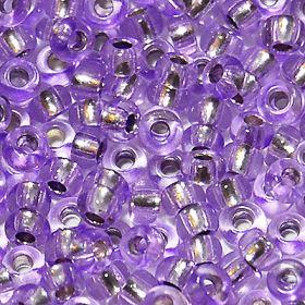 Бисер чешский 78123 сиреневый прозрачный серебряная середина Preciosa 1 сорт