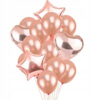 Набор металлизированных шаров, Розовые