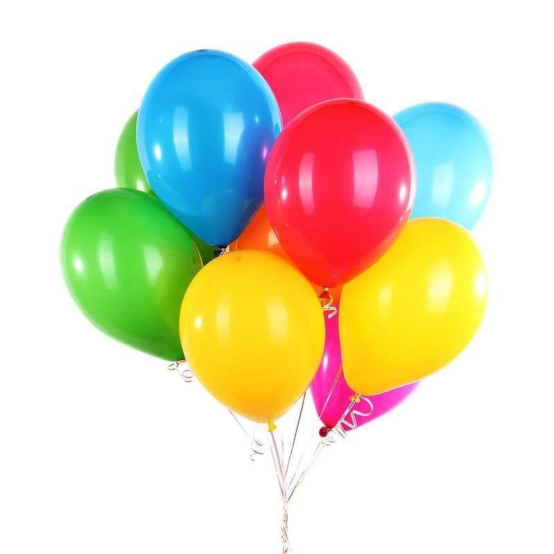 10 разноцветных шаров