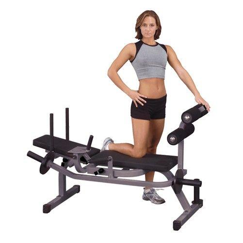 Скамья горизонтальная для тренировки мышц брюшного пресса Body-Solid GAB100 на свободных весах