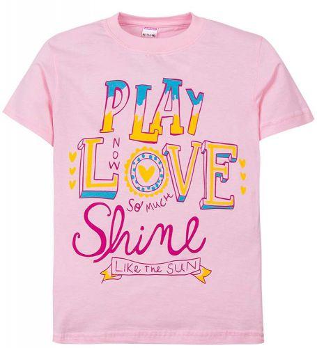 """Футболка для девочек 6-9 лет Sladikmladik """"Play Love"""""""