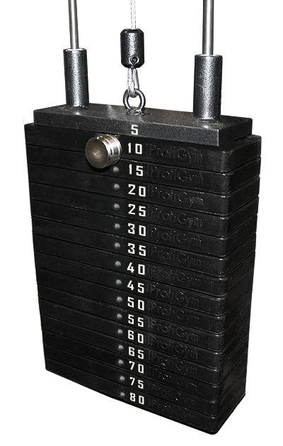 Грузовый стек для тренажеров 80 кг
