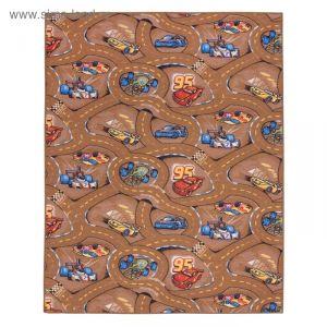 Палас принт Гонки 170, размер 150х200 см, цвет бежевый, полиамид 3341642