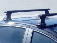 Багажник на крышу Lada Vesta sedan, Атлант, крыловидные аэродуги (черный цвет)