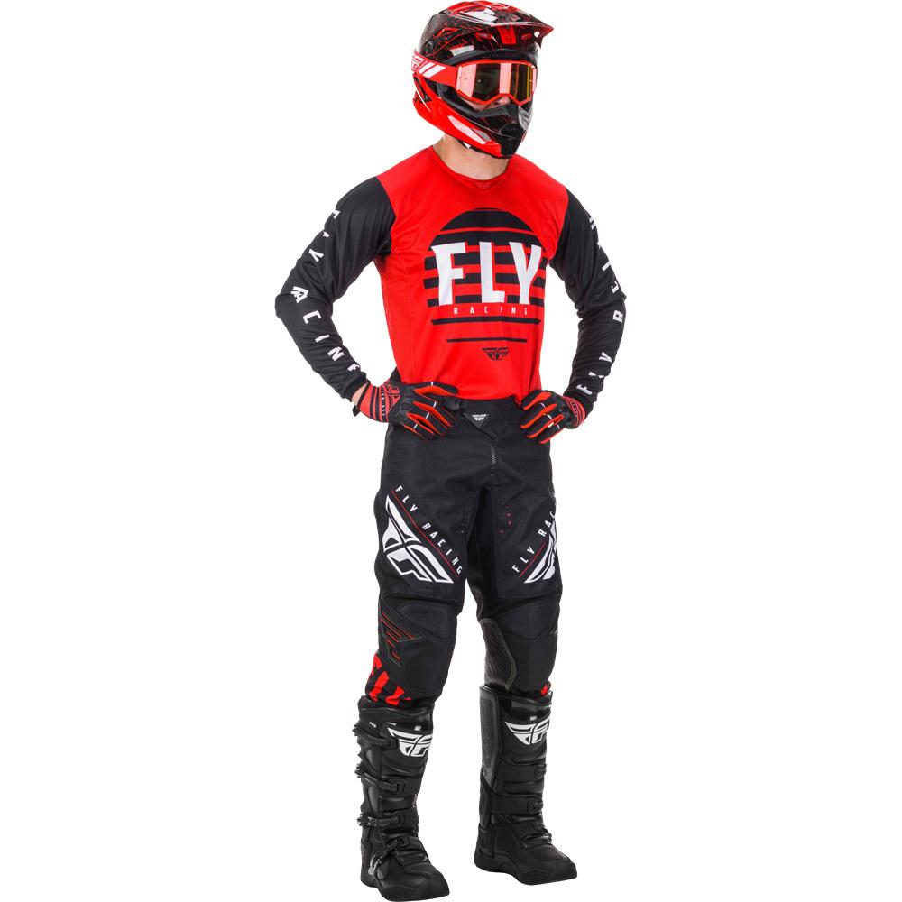 Fly - 2020 Kinetic K220 Red/Black/White комплект штаны и джерси, красно-черно-белый