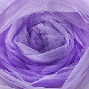 Мягкий фатин (еврофатин) 300х25 см - фиолетовый / сиреневый