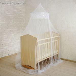 Балдахин на детскую кроватку, с декором, цвет белый