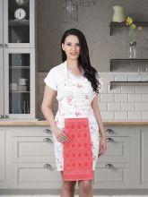 Фартук кухонный с салфеткой 30*50(брусничный) Арт.1128-5