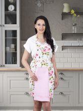 Фартук кухонный с салфеткой 30*50(розовый) Арт.1128-6