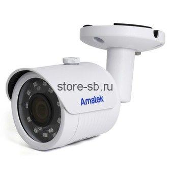 AC-IS202A (2,8) Amatek Уличная цилиндрическая IP видеокамера, объектив 2.8мм, 2Мп, Ик, POE